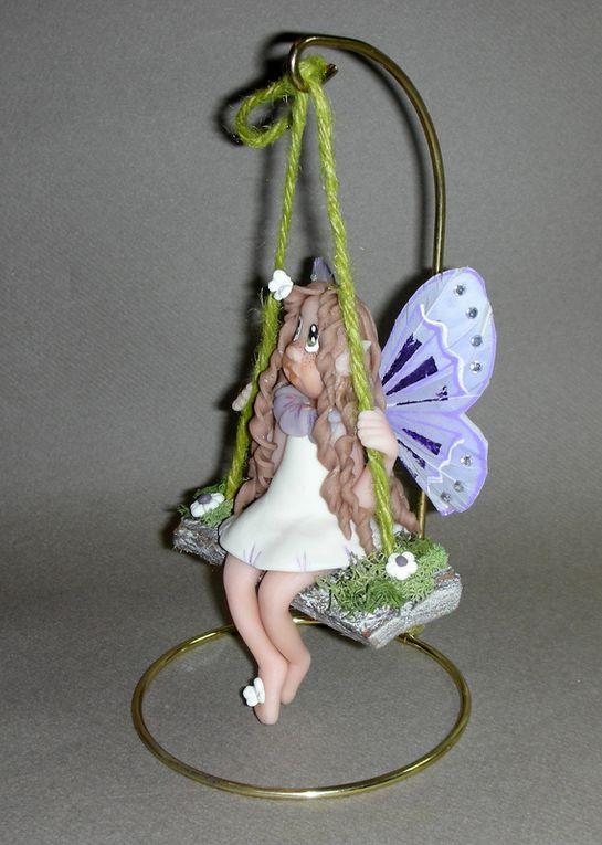 P'tite Elfe papillon sur balançoire