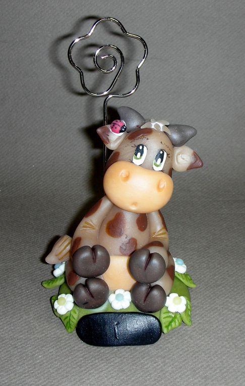 Porte-photos avec vache