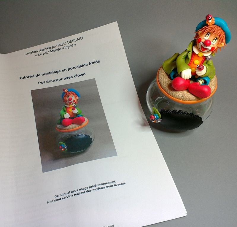 Kit de modelage &quot&#x3B;Clown&quot&#x3B; en porcelaine froide