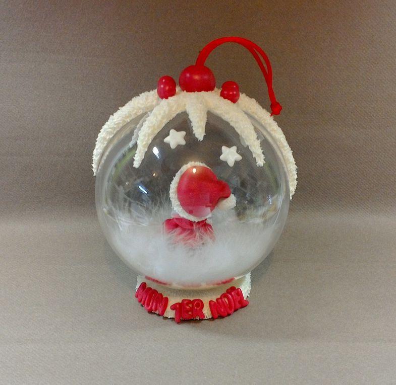 Boule avec bébé &quot&#x3B;mon 1er Noël&quot&#x3B;
