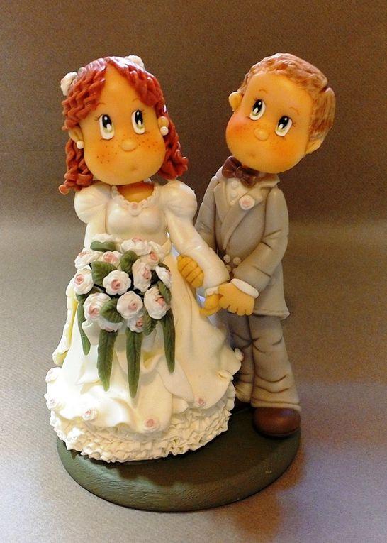 Couple de Mariés en porcelaine froide