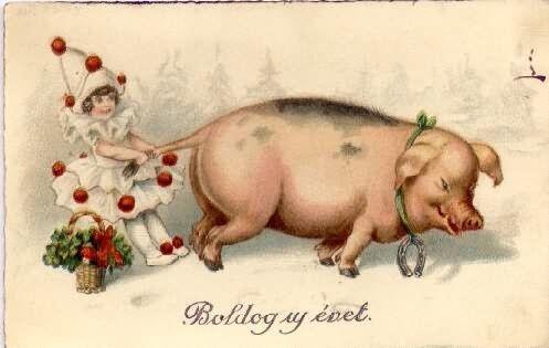 Petites collections de cartes hongroises anciennes pour la nouvelles année