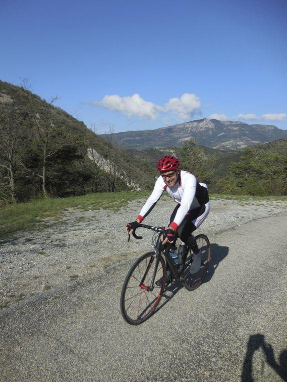 Stage de Nyons, 2eme jour, de belles arrivées aux sommets ou pas !