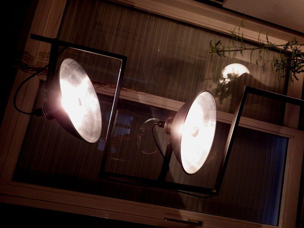 Détournement d'anciens chauffages vintages en lampadaire unique style industriel loft