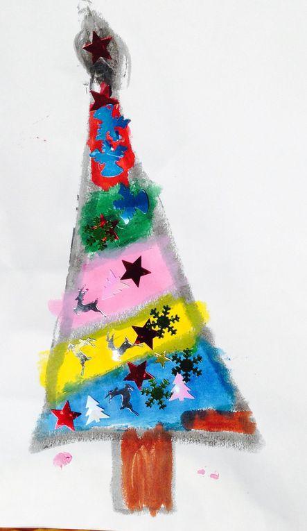 Le sapin de Noël, dessiné tout seul (avec les enfants de moyenne section de maternelle)