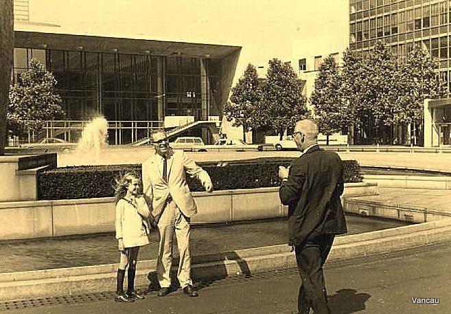 Voyage à New-York avec ma fille Valérie en juillet 1971