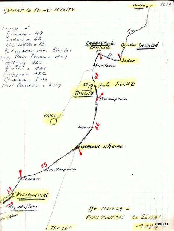La Route Rimbaud-Verlaine aux alentours de Charleville et Pormontain chez les Gouberville en Mai 1987