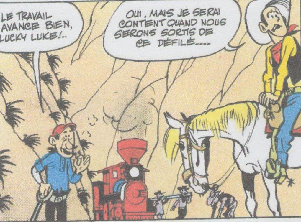 1/ Les rails sur la prairie (1955)  , 2/ Lucky Luke contre Joss Jamon '(1956), 3/ Les cousins Dalton,(1957) 4/  Le Juge (1958), 5/ En remontant le Mississippi (1959),  6/ Billy le Kiid, (1961)  7/ Les collines noires (1962) , 8/ La ville Fantôme  (1963) 9/ Le 20e de cavalerie  (1964) 10/ Calamity Jane, (1965) 11/ Tortilla pour les Dalton (1966), 12/ La diligence.(1967)
