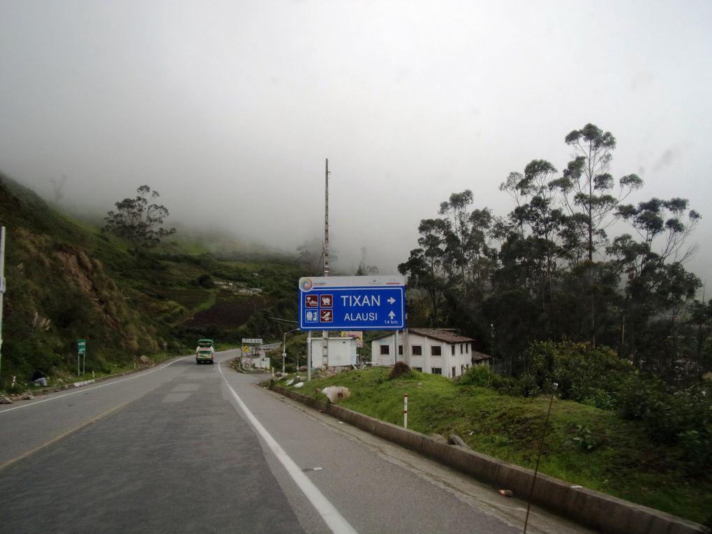 Voyage en Equateur ....... De Banos à Riobamba puis au Chimborazo et fin de journée à Alausi.