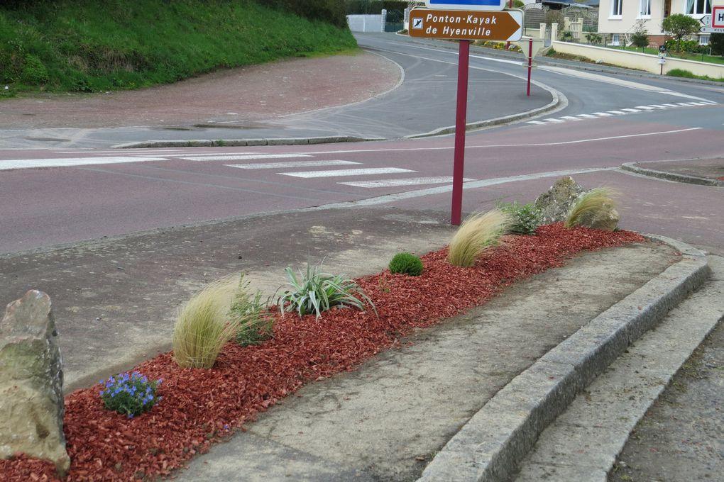 Nouvel aménagement à l'entrée de notre village.