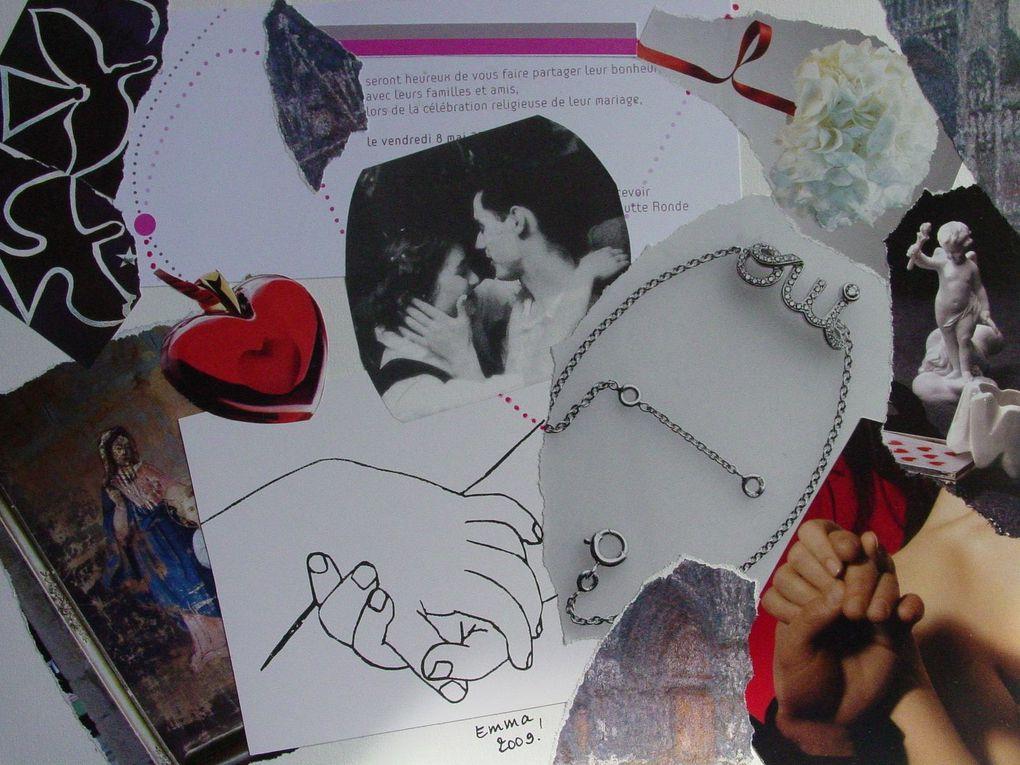 """Les Collages d'eMmA MessanA, diaporama de quelques collages """"Coeur"""""""
