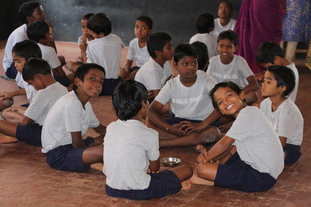 Les enfants d'Apres School près de Pondichéry (Tamil Nadu, Inde). Février 2017 et 2014