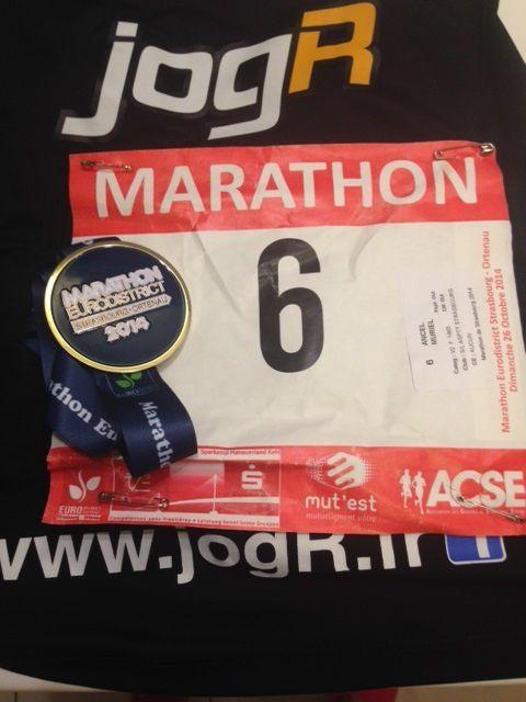 Marathon de Strasbourg 2014 - entre joie et colère
