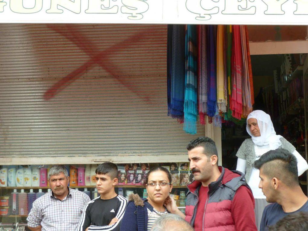 Les marques rouges à Kızıltepe/Qoser (photos E.C.)