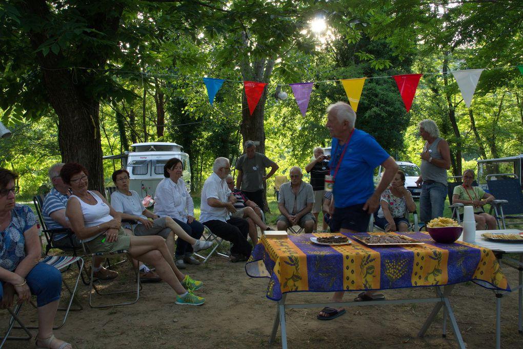 Rencontre nationale à Rosières (Ardèche) au camping Arleblanc sur les bords de la Beaume Suite et fin