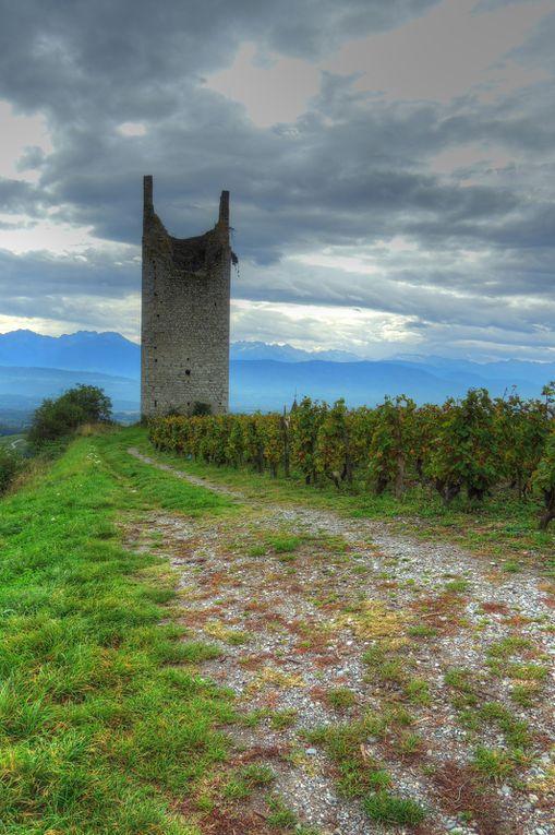 Chateau et vignes de Chignin