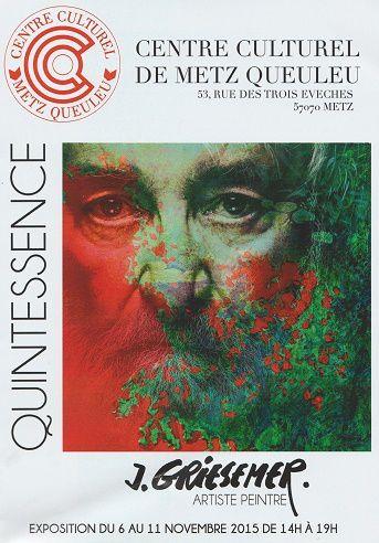 Centre Culturel METZ Queuleu - Entre toile et texte - Visiteurs, à vos plumes ! Invitation à tisser un dialogue avec une des toiles de Jacques Griesemer - l'exposition fermera ses portes mercredi 11 novembre, à 18 heures