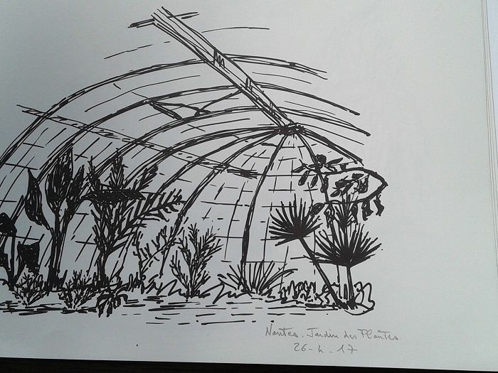 &quot&#x3B;Croquis d'Extérieur&quot&#x3B; au  Jardin des plantes de Nantes.