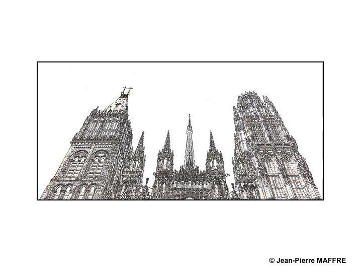 Difficile de trouver des sujets qui conviennent à l'usage des filtres inclus dans les logiciels de traitements d'images. La cathédrale de Rouen s'y prête à merveille.