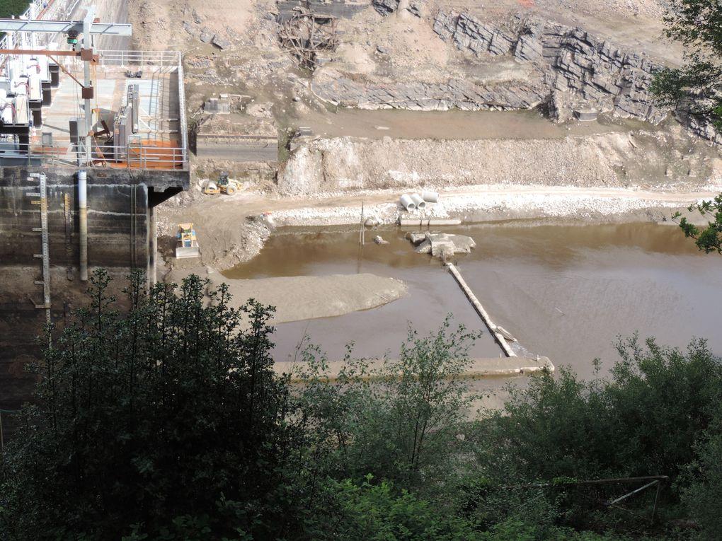 le chantier du barrage