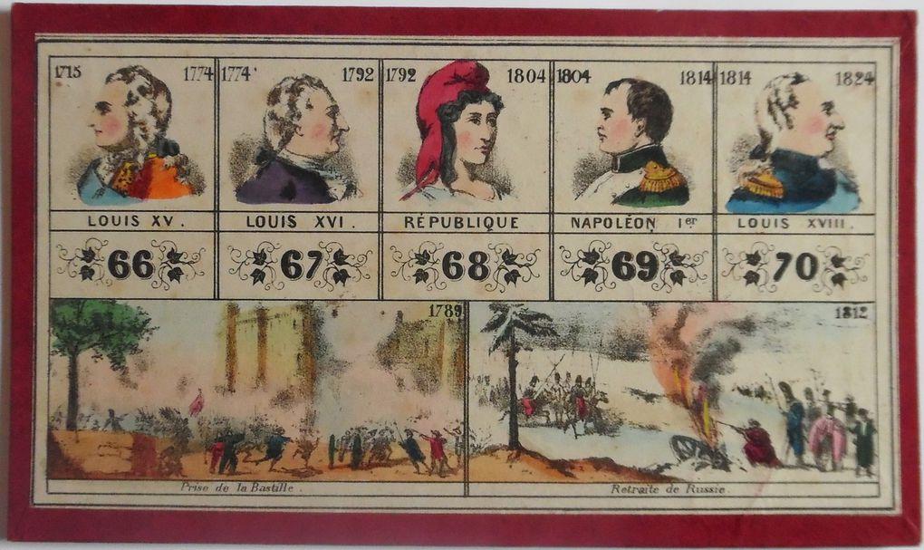 loto Histoire de France, cartons 12 à 18