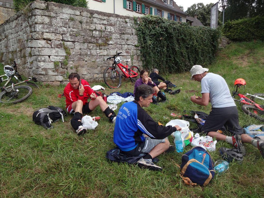 rencontre avec des marcheurs ayant loués des ânes, afin de transporter toutes leurs bouteilles pour l'apéro :)) une petite chienne que sa maîtresse aimerait faire rencontrer Stradi &#x3B;) cueillette de mûres, merci Olivier&#x3B; abri sous la pluie