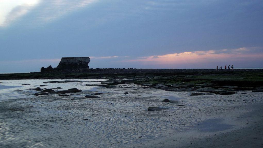 Le portel, la plage, Le Fort d'Alprech, Le Cap d'Alprech, le Fort de l'Heurt.