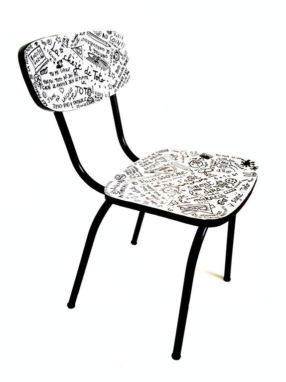 © SophieLDesign, La chèze de Toto, 2016, chaise pour enfant 65€