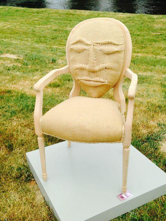 Tapisserie en siège et création design (de trois artistes différents)