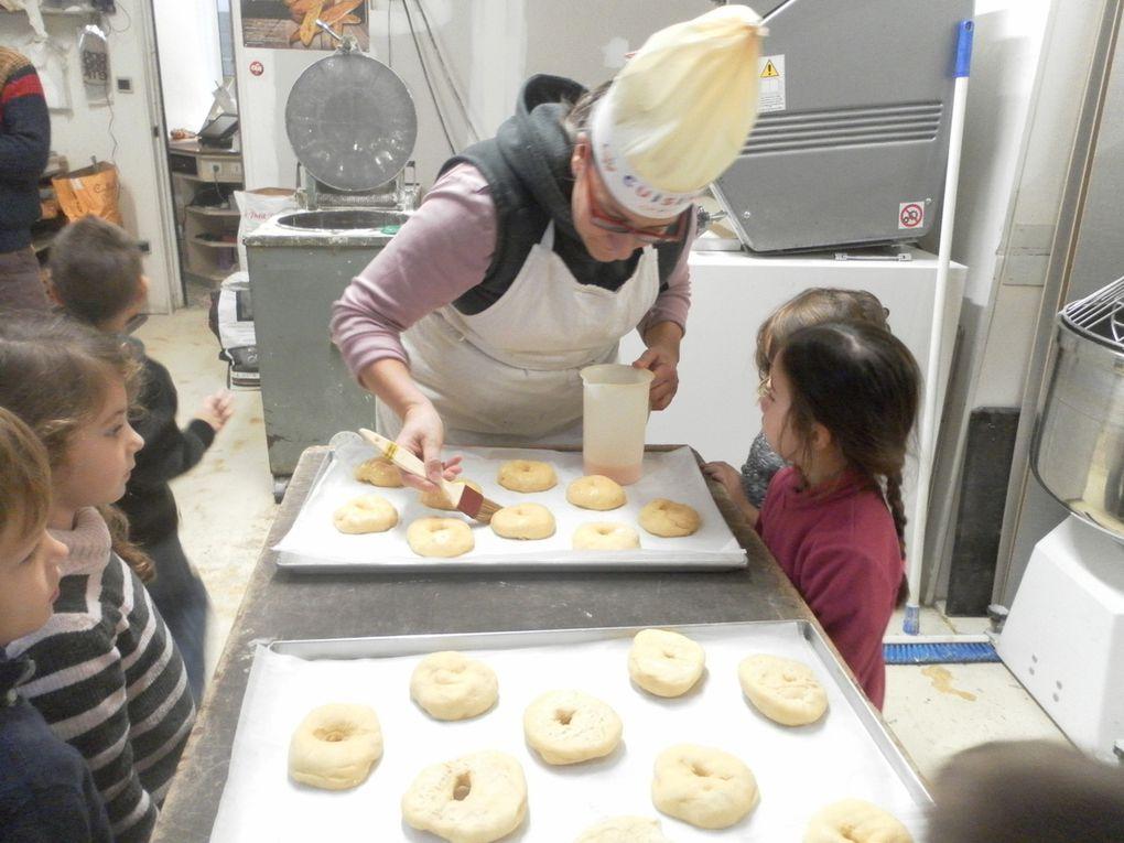 Classe maternelle : Top départ pour le projet sur le thème de la cuisine avec Sophie et Bruno, boulangers à Astaffort !! Article n° 2 : suite et fin pour la première recette de notre livre.