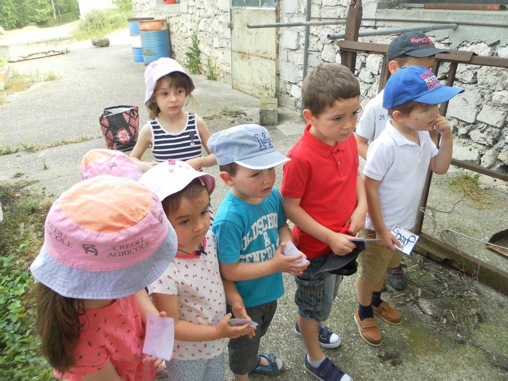 Visite de la ferme de Mathilde et augustin F.