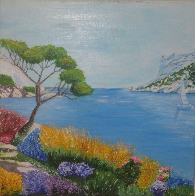 Et les œuvres sublimes sur le thème Marseille - Différente technique - Toile 40x40