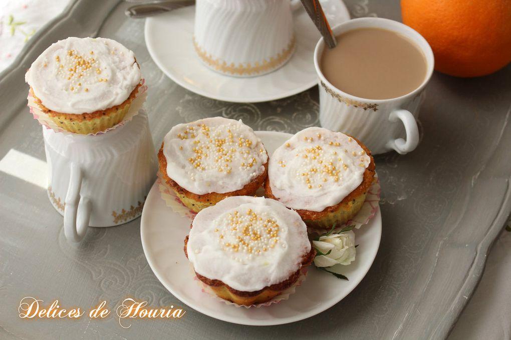 Cupcakes orange et pavot