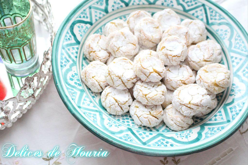 Mlowza - gâteaux marocains aux amandes &amp&#x3B; citron