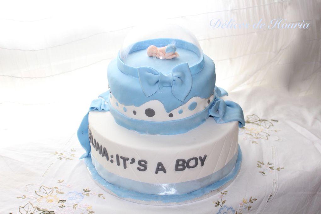 Gâteau et sablés pour baby shower