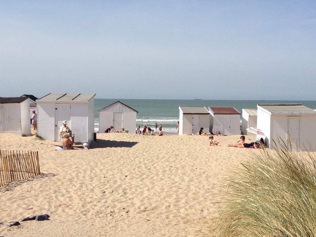 Cabines de plage de Blériot plage
