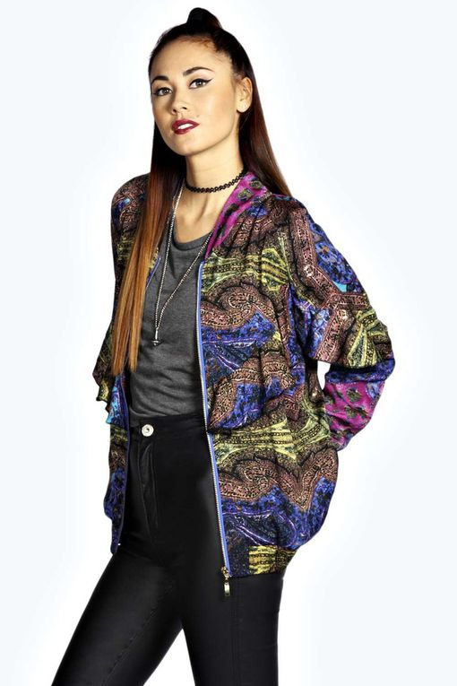 #Bomber #Boohoo #Fashion #Sporty #Street #Spring