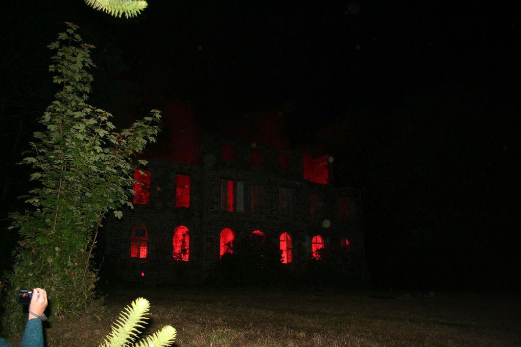 Retour du feu d'artifice au château des Noyers