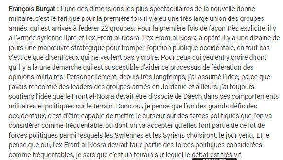 Discussion sur les propos de François Burgat concernant l'Islam politique