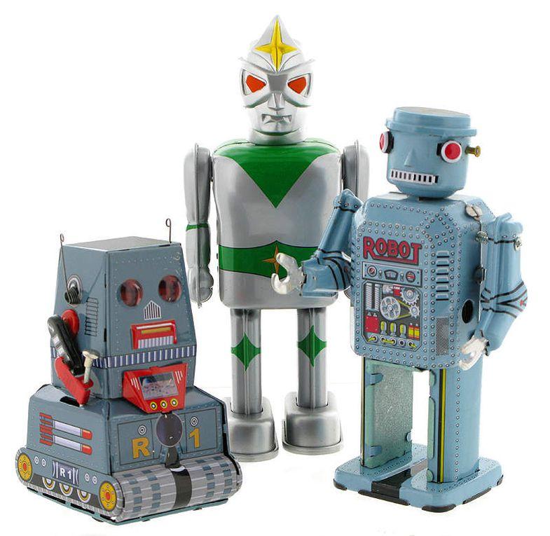Robot mécanique en métal