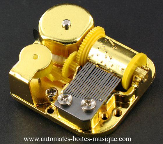 Mécanismes musicaux à ressort, à manivelle, à ficelle et pour mobile