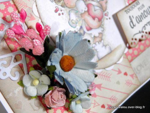 Carte Magnolia &quot&#x3B;toujours plus d'amour&quot&#x3B;