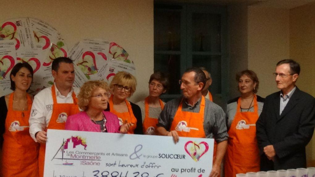 Remise du Chèque aux Restaurants du Coeur (Photos et Vidéo)