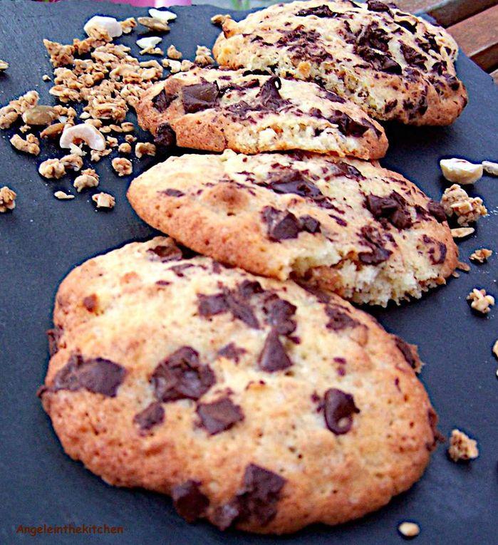 Cookies au granola, pomme et chocolat