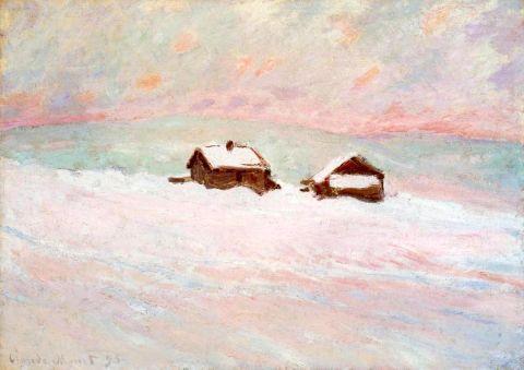 Hodler deux vues du Lac Léman de Chexbres, Munch la Nuit Etoilée et Soleil de face, Monet les maisons bleues et Maisons dans la neige en Norvège