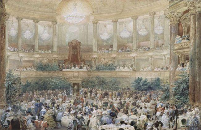 Fête de Nuit et bal aux Tuileries 10/06/1867, Madame Moitessier par Ingres,Napoléon III par Winterhalter, Décor de la villa Abbadia Biarritz
