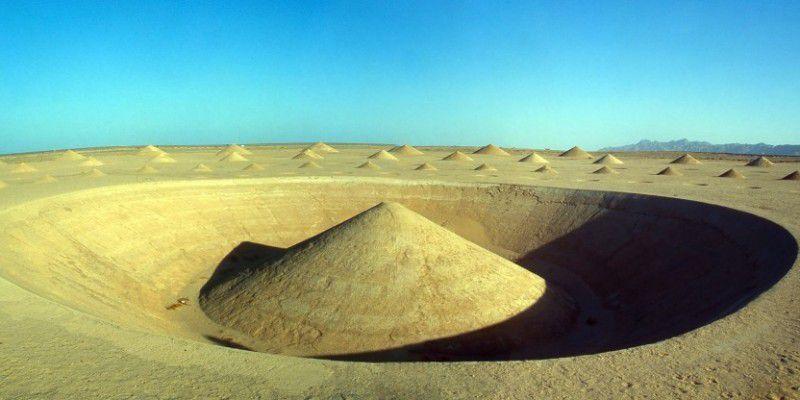 Le désert tout en relief