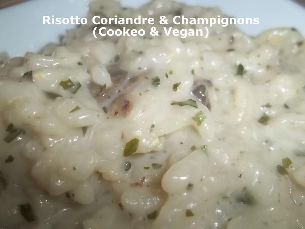 Un Tour &quot&#x3B;Rapide&quot&#x3B; en Cuisine #175 - Risotto Coriandre &amp&#x3B; Champignons (Cookeo &amp&#x3B; Vegan)
