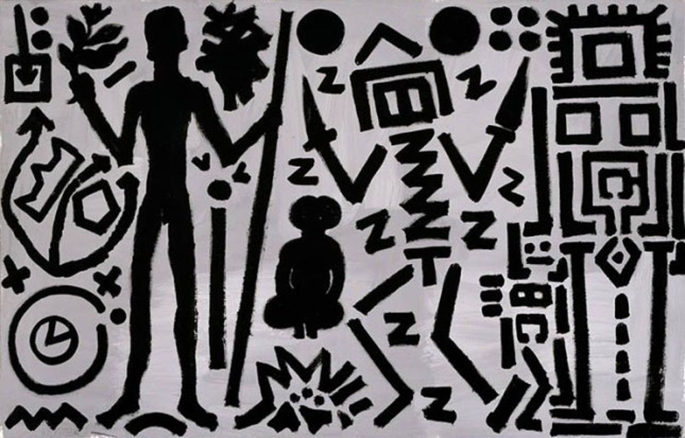 A.R. Penck paintings.
