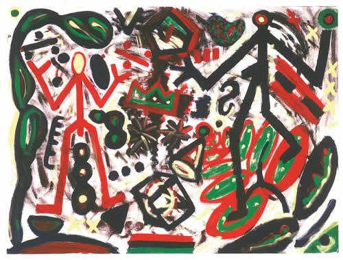 Peintures d'A.R. Penck.